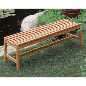 free backless simple wood bench plans | Discover Woodworking Projects