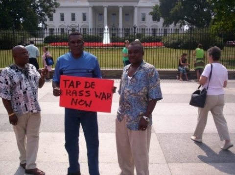 Jamaicans Protest in front of the White House